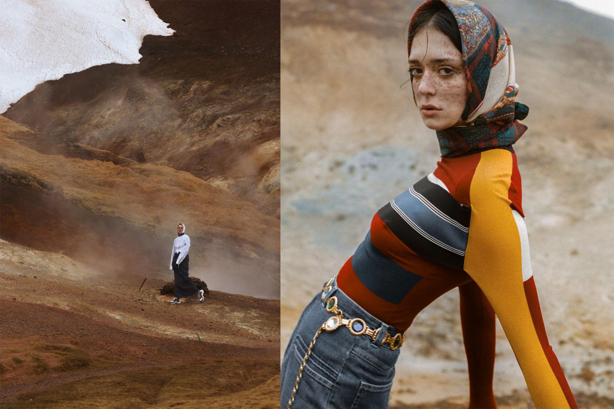 DAMIEN KRISL with MAEVA MARSHALL for SLIMI MAGAZINE on ICELAND