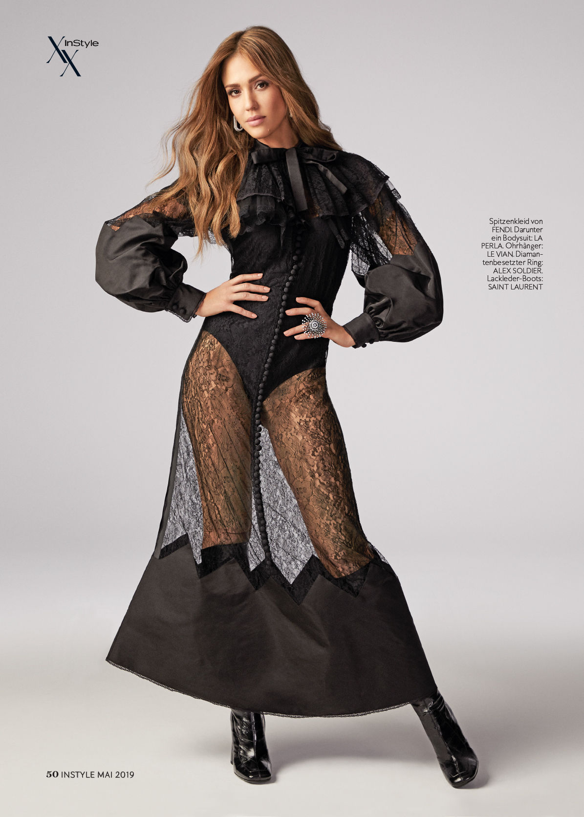 GLAM PRODUCTION produced German Instyle Feat Jessica Alba 20 year anniversary