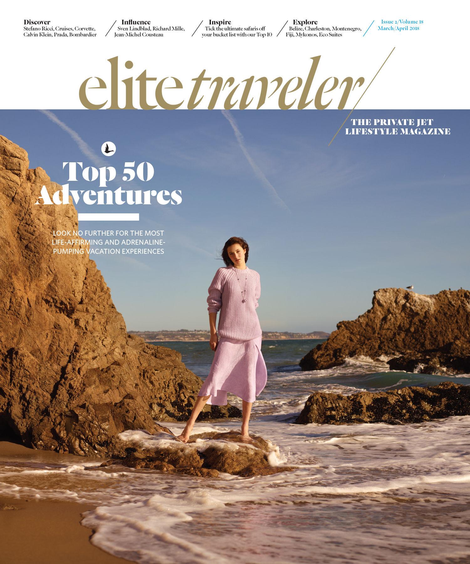 GlamPR produces Elite Traveler Magazine cover and inside spread