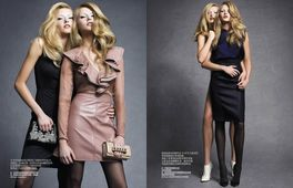 EAST WEST MODELS : Aida A. & Leva A. for HARPER'S BAZAAR