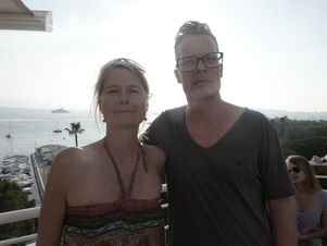 CANNES 2011 : MARKENFILM - sundowner with agent Nina Fryland and director Simon Ladefoged