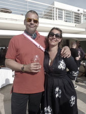 CANNES 2011 : MARKENFILM -  sundowner with producer Dominik Meis / Markenfilm and Nadine von Volkmann / Tröber Casting