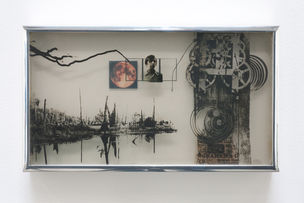 CHERRY AND MARTIN : Andre Haluska, Self-portrait with Images, 1969 (Photography into Sculpture)