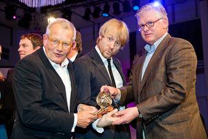 Winner Dinner 2011 : Prof. Rempen (Büro Rempen ), Florian Grimm (Grimm Gallun Holtappels), Hans-Jürgen Meyer (Hi-Cone)