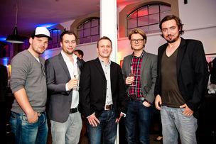 Winner Dinner 2011 : Lasse Lüders (Appmotion), Tobias Schröder, Damian Kuczmierczyk, Markus Kremer, Thomas Heyen (all: Lukas Lidemann Rosinski)