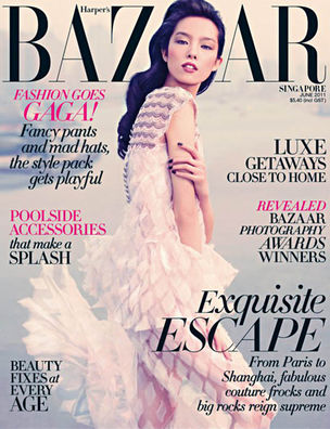 MUNICH MODELS : FEI FEI Sun for HARPERS BAZAAR