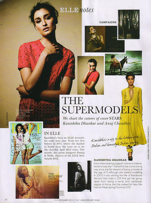 ANIMA CREATIVE MANAGEMENT : Kanishtha DHANKHAR for ELLE INDIA