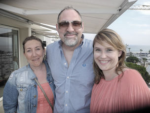 CANNES 2011 : MARKENFILM - sundowner with agent Halina Dietrich, director Carl Prechezer, producer Peggy Geibig
