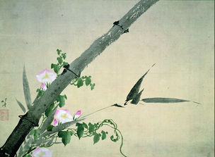 Bambus und Windenblüten © Katsushika Hokusai Museum of Art