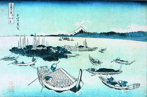 Die Insel Tsukudajima in der Provinz Musashi © Sumida City