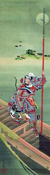 Der Heerführer Cao Cao vor der Schlacht bei Chibi © Katsushika Hokusai Museum of Art