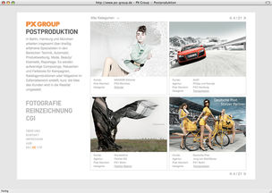 PX GROUP : New navigation