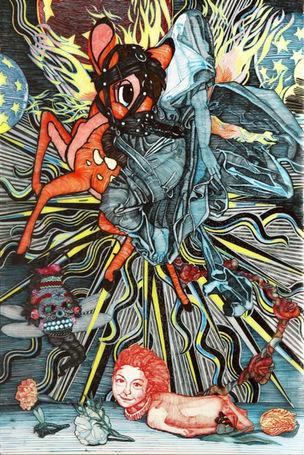 Galerie Anita Beckers : CORNELIA RENZ, 'Unicorn in the sky'