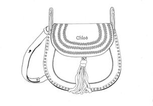 Tasche ausmalbild  GOSEE ::: GALA STYLE // Ausmalbilder