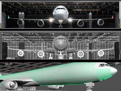 ALBERT BAUER STUDIOS for LUFTHANSA A340-600