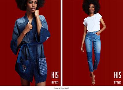 BIGOUDI - Antonia Haaks and Sonja Shenouda for H.I.S Jeans Campaign
