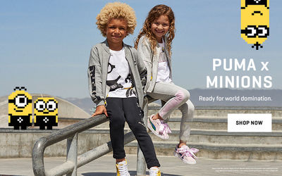 Todd Cole c/o GIANT ARTISTS captured the latest campaign for Puma Kids in collaboration with the Minions franchise.