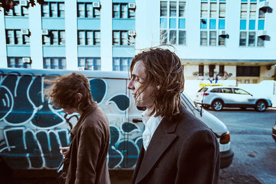 Christaan Felber c/o GIANT ARTISTS shot indie rock duo Jonathan Rado and Sam France of Foxygen for The National