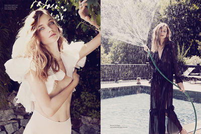 Angelika Buettner capturing the perfect Poolside