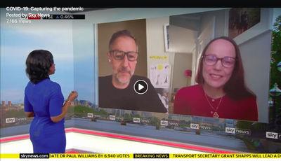 Arnhel De Serra c/o JSR AGENCY interviewed on Sky News as part of the #holdstill2020 project