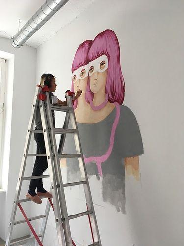 "COSMOPOLA    Illustration Artist Andrea Wan - ""Mindspace Mural, Berlin"