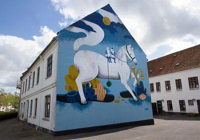 COSMOPOLA    Illustration Artist Andrea Wan - Public Art Horsens Mural