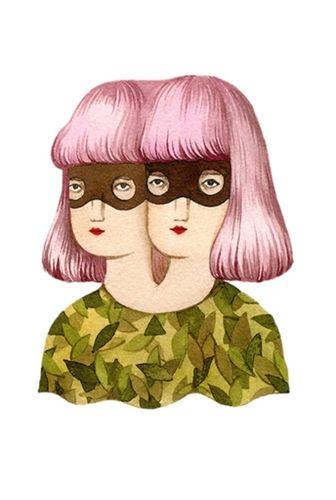 COSMOPOLA    Illustration Artist Andrea Wan - Stickers