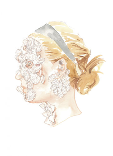 COSMOPOLA Illustration Artist - Francesco Lo Iacono - Givenchy SS16 for Fashion Glossary Uk