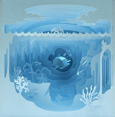 COSMOPOLA  Into the Azure Blue by CRIZILLA DELASEY