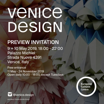 COSMOPOLA    LACY BARRY exhibiting in Venice at Venice Design 2019 - INVITATION 9th-10th May