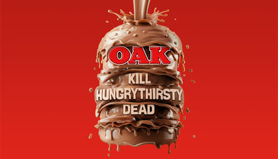 Cream Electric Art c/o JSR AGENCY : Mouth watering CGI image for Oak Milk. Seriously, who doesn't want to make a chocolate hamburger!