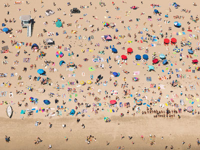 "Justin Fantl c/o GIANT ARTISTS  creates the perfect game of ""I Spy"" with this aerial view of Venice Beach, CA."