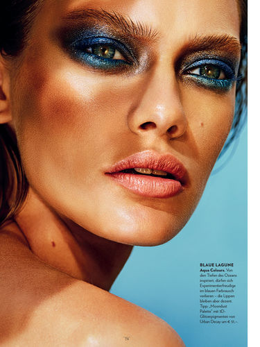 Anna Langbrandtner @SP-Models for Look Magazine Vienna Summer 2017 with Make-Up by Urban Decay