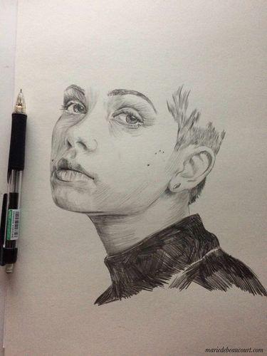 COSMOPOLA   Marie de Beaucourt portrait of Tavi Gevinson work in progress