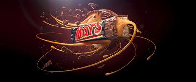 CGI Mars Bar by Cream Electric Art c/o JSR AGENCY : CGI Creative Retouching and Animation