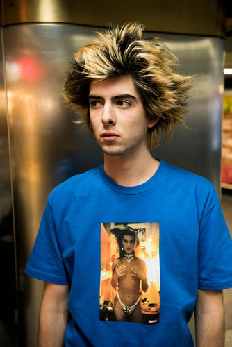 Peter Sutherland c/o GIANT ARTISTS photographed the Spring 2018 tees for Supreme, a collaboration between the brand and photo legend Nan Goldin