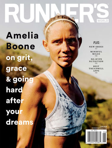 Jake Stangel c/o GIANT ARTISTS photographed American obstacle racer, Amelia Boone, for the cover of Runner's World.
