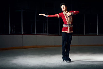 Emily Shur photographed record-breaking figure skating champion, Nathan Chen for Time Magazine