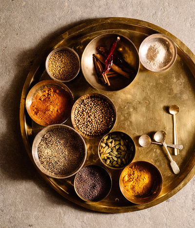Jake Stangel  c/o GIANT ARTISTS photographed the Julia Child of Indian cooking, Madhur Jaffrey, for Martha Stewart Living