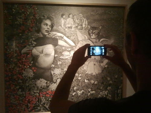"""Saatchi Gallery, London (""""Out of Focus: Photography"""" exhibition, July  2012)"""
