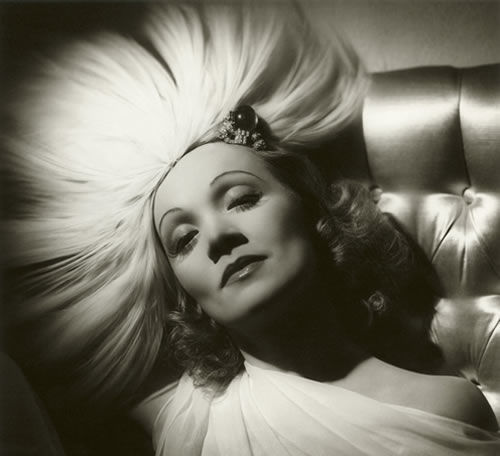 GLAMOUR OF THE GODS : Marlene Dietrich by George Hurrel, 1937 (National Portrait Gallery)