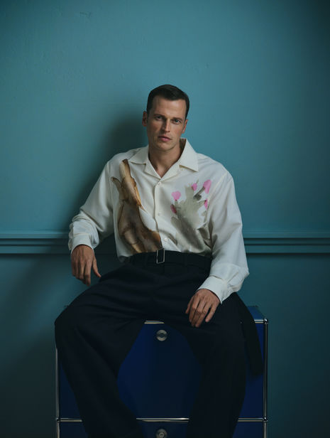 What are you wearing? MAX VON TREU photographs male top model Lars Burmeister for MR ICON