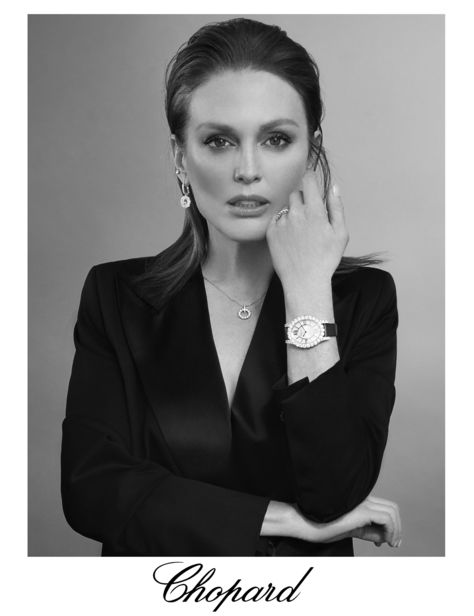 Julianne Moore is the glamorous testimonial for CHOPARD?s latest watch collection L?HEURE DU DIAMANT ? photographed in New York by star photographer ANDREAS ORTNER