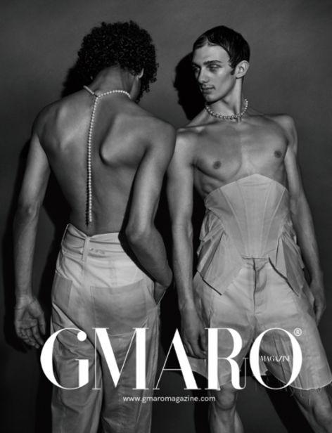 Svenja Blobel photographs the cover spread for GMARO magazine ? grooming by Anja EL SAWAF c/o LES ARTISTS by Josef Stockinger