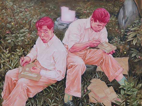 NEWS BLOG WILDFOX RUNNING: Shane Berkery - Contemporary Paintings  (March 2018), The Molesworth Gallery