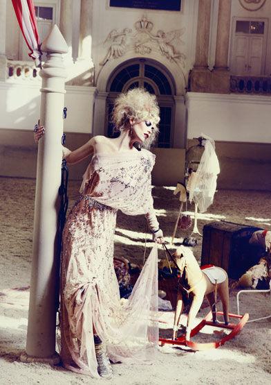 KIERA CHAPLIN by SUSANNE STEMMER for FETE IMPERIALE  @ Spanish Riding School Vienna