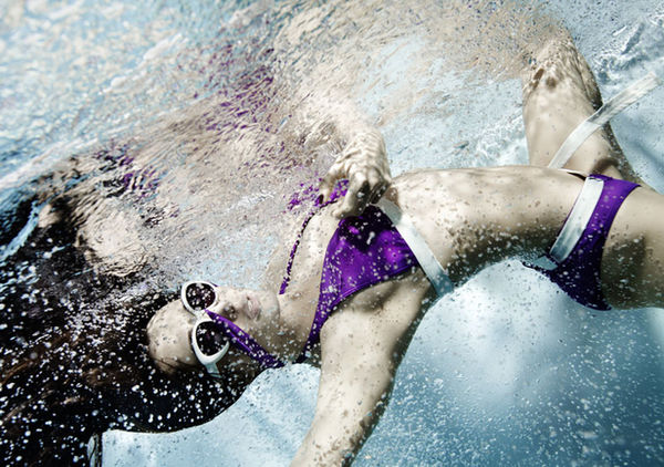 SUSANNE STEMMER - advertorial P2 swimwear, BC MAG