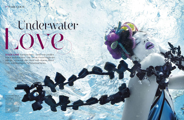 UNDERWATER BEAUTY EDITORIAL for FIRST MAGAZINE