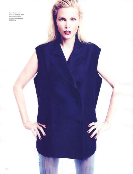 VIVA MODELS: Nadja Auermann for Harper's Bazaar Russia April 2014