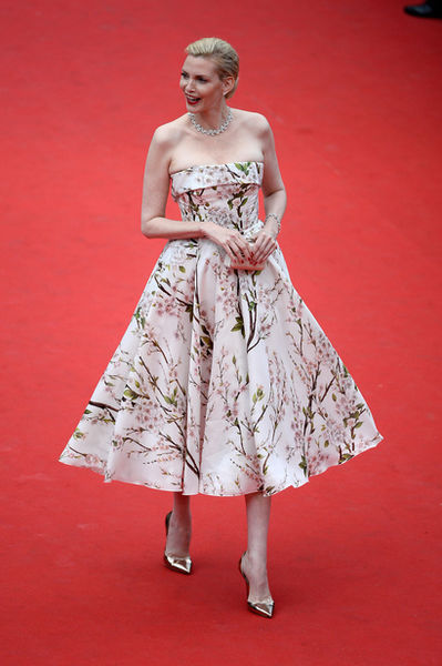 VIVA MODELS: Nadja Auermann at the Opening ceremony and 'Grace de Monaco' Premiere during the 67th Annual Cannes Film Festival